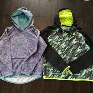 2 girl's hoodies